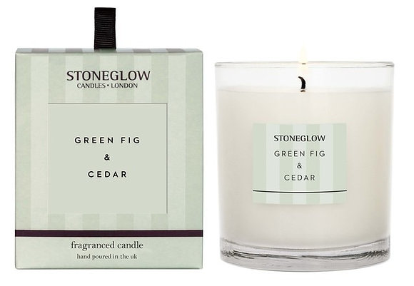 STONEGLOW Green Fig & Cedar Candle