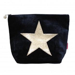 Velvet Star Large Cosmetics Purse - Navy