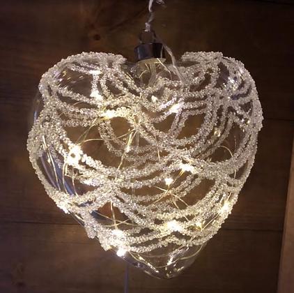 LED Heart Bauble