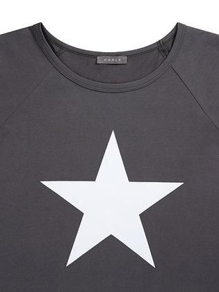 CHALK Darcey T-Shirt   Charcoal   Star