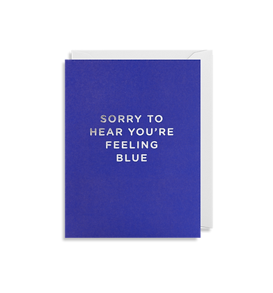 LAGOM Sorry To Hear Your Feeling Blue Mini Card