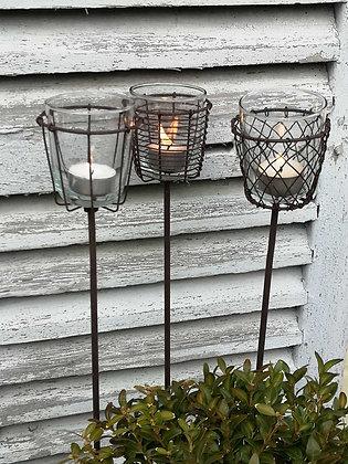 Decorative Stake Tea Light Holder (Single)