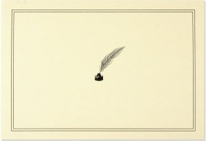 Quill Pen And Ink Note Cards