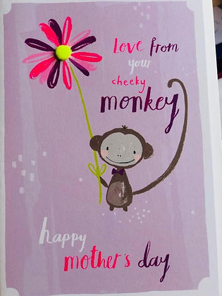 Mother's Day Card - From Your Monkey