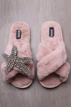 Starfish Brooch Slipper Pink Size 5-6