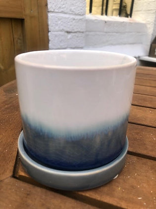 CHIVE Two Tone Plant Pot and Tray