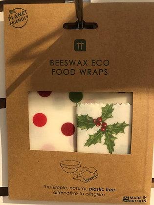 Christmas Beeswax Eco Food Wraps