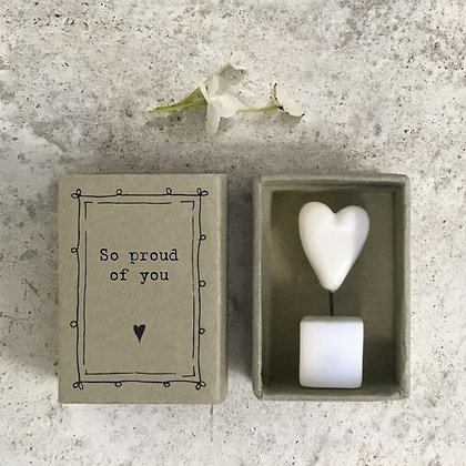 East of India So Proud of You Matchbox Gift