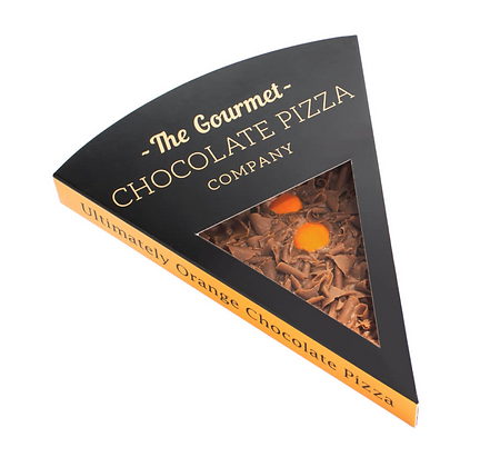Chocolate Pizza Slice Orange