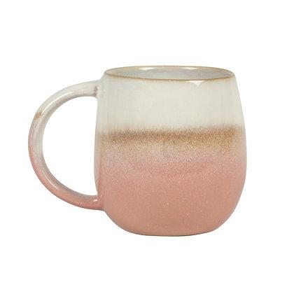 Dip Glazed Ombre Pink Mug