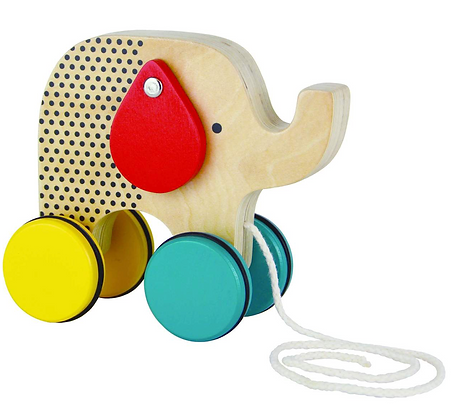 Wooden Pull Along Toy - Elephant