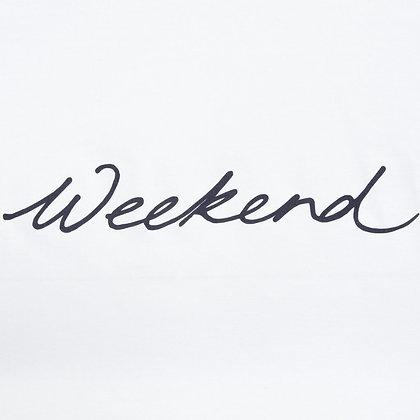 "CHALK Robyn White Top With Weekend"" in Dark Grey"