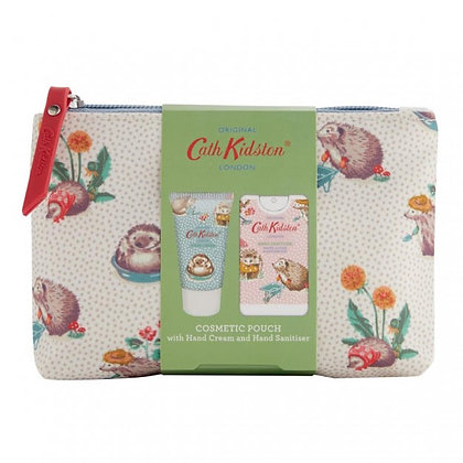 Cath Kidston Cosmetic Pouch with Hand Cream and Hand Sanitiser