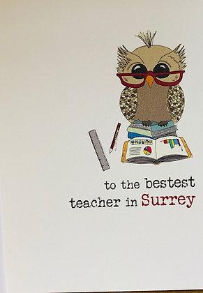 DANDELION STATIONERY To The Best Teacher In Surrey