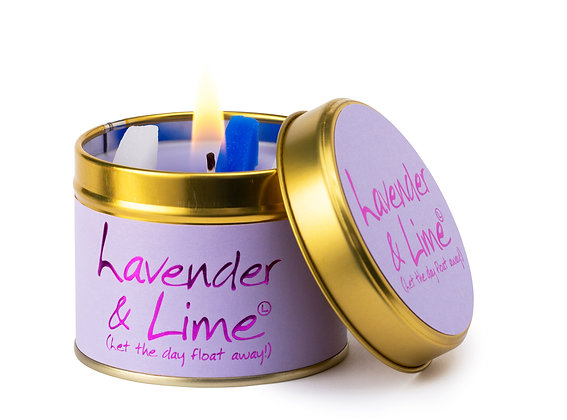 Lavender and Lime candle tin