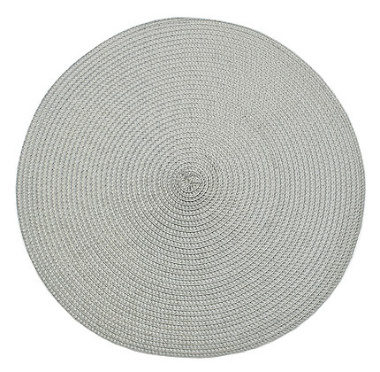 Circular ribbed placemat dove grey
