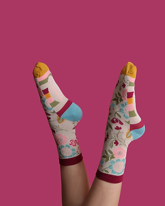 POWDER Scandi Floral Ankle Socks