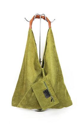 OLIVE Large Suede Hobo Bag