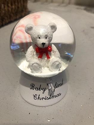 Baby's First Christmas Mini Snow Globe