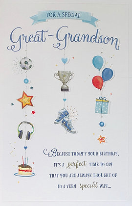 UK GREETINGS For A Special Great Grandson