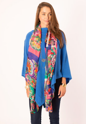 Colourful Patterned Large Silk