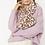 Thumbnail: Reversible Animal Print Faux Fur Scarf - pink