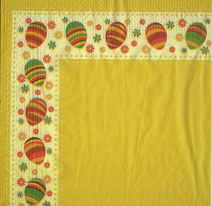 GISELA GRAHAM Easter Eggs Napkin In Yellow