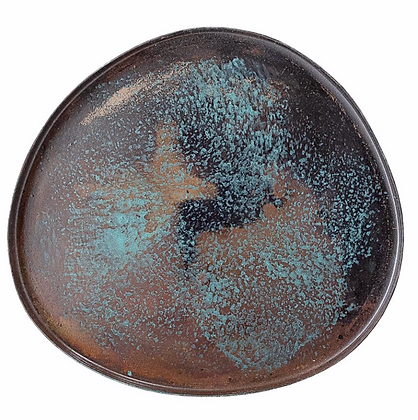 Blue metal candle tray