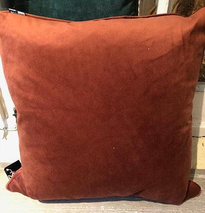 Malini Rust Velvet Cushion