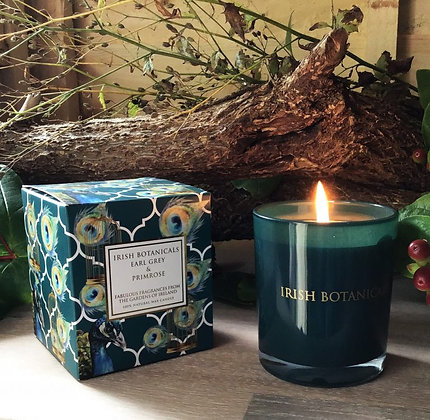 Irish Botanicals Earl Grey and Primrose candle