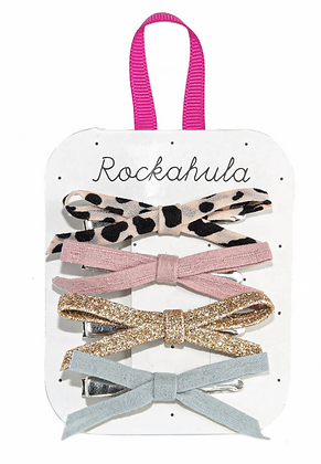 Rockahula - Lily Leopard Skinny Bow Clips