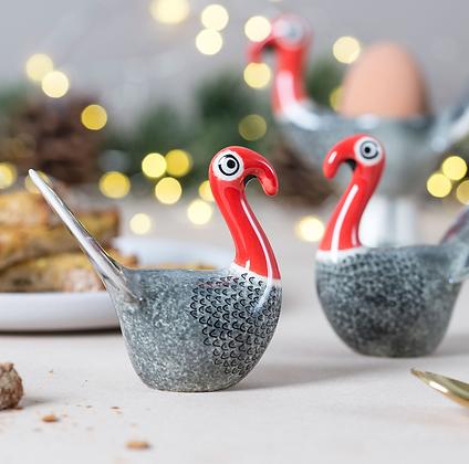 Hannah Turner - Handmade Ceramic Turkey Salt And Pepper Shakers
