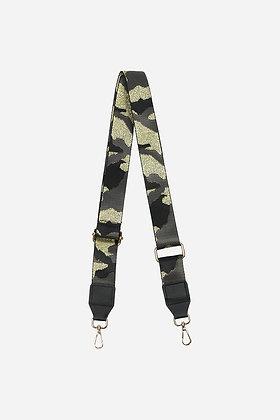 Glitter Camouflage Bag Strap BLACK/GOLD
