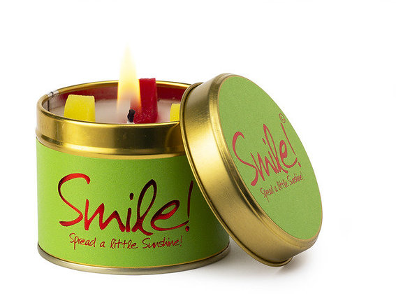 Smile candle tin