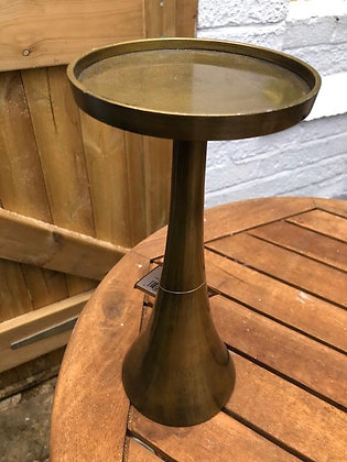 Ohlson Antique Brass Candle Holder