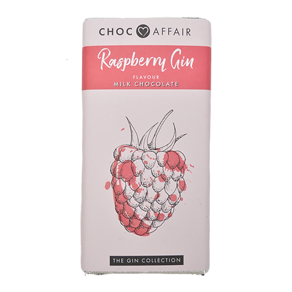 CHOC AFFAIR Raspberry Gin Milk Chocolate