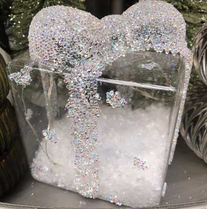 Large light-up glitter present
