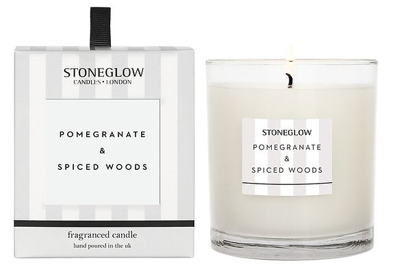 STONEGLOW Pomegranate & Spiced Woods Candle