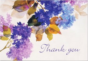 Lilacs Thank You Notes