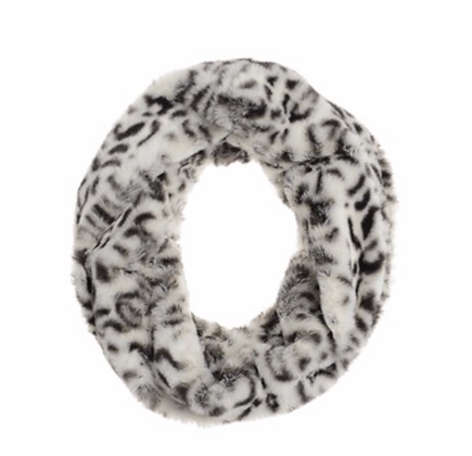 Animal Print Snood Grey/White