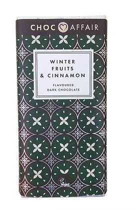 CHOC AFFAIR Winter Fruits & Cinnamon Dark Chocolate Bar
