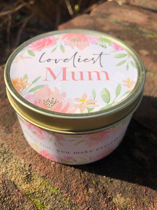 Loveliest Mum Tin Candle