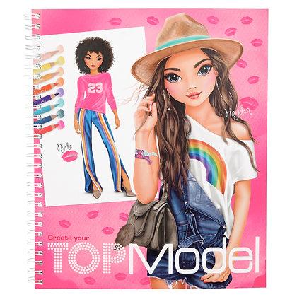 DEPESCHE Create Your Top Model Colouring Book