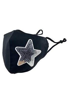 Adults Face Mask - SEQUIN STAR