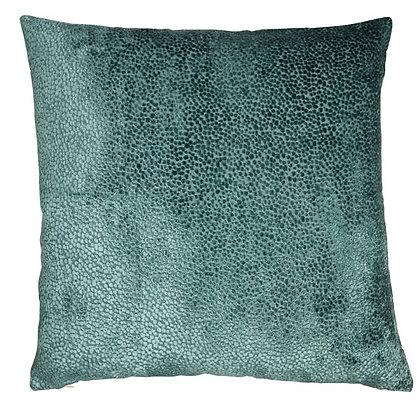 Mat cut velvet cushion feather filled