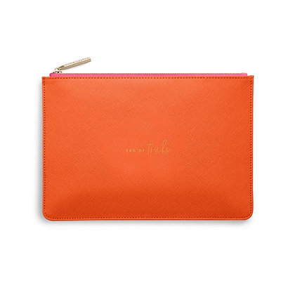 KATIE LOXTON COLOUR POP PERFECT POUCH  BAG OF TRICKS in ORANGE