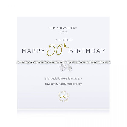 A Little Happy 50th Birthday Bracelet