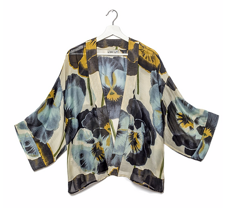 One Hundred Stars Kimono Pansy