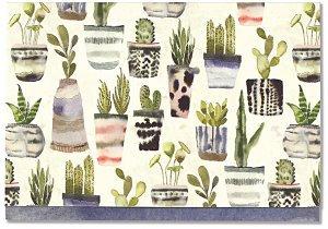Watercolour Succulents Note Cards