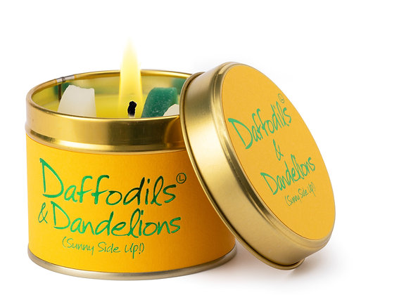 Daffodils and Dandelions candle tin